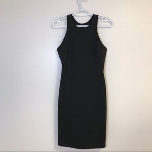 Clover Canyon Black Scuba Neoprene Dress Small